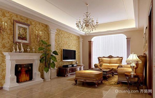 欧式风格别墅型精致豪华客厅吊顶装修效果图鉴赏