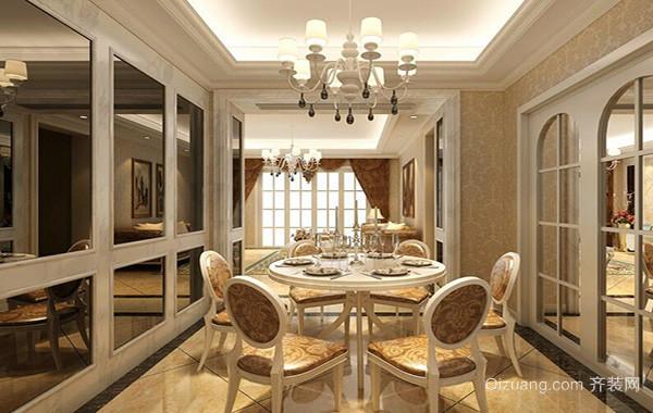 别墅欧式风格餐厅吊顶设计装修效果图欣赏