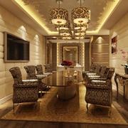 2016欧式风格精致的餐厅设计装修效果图鉴赏