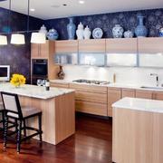 别墅型欧式厨房橱柜设计装修效果图欣赏
