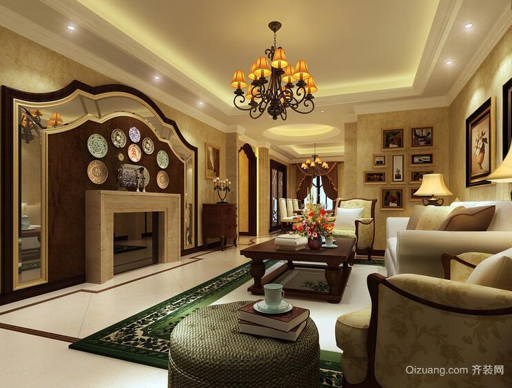 精致的别墅型客厅室内装修效果图鉴赏