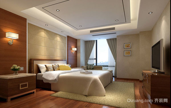 现代简约风格大户型室内卧室装修效果图赏析