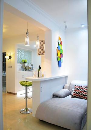 6平米现代简约风格时尚创意吧台装修效果图赏析