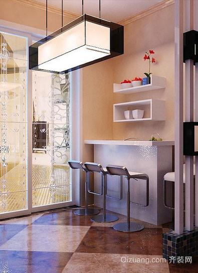 100平米现代简约风格精致时尚吧台装修效果图