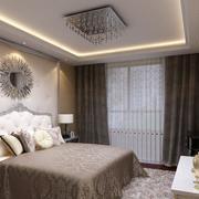 2016别墅卧室室内窗帘设计装修效果图