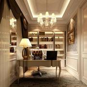 别墅型欧式风格书房装修效果图鉴赏
