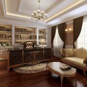 精致的现代大户型书房室内装修效果图