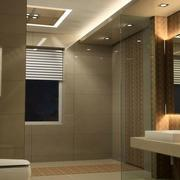 大户型现代简约风格卫生间装修效果图欣赏