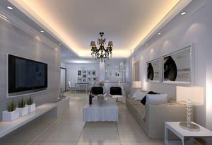 90平米现代简约风格室内客厅装修效果图