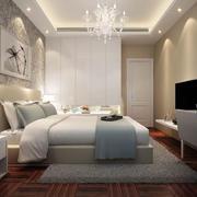 现代简约风格精致舒适卧室背景墙装修效果图