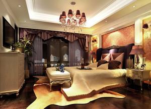 欧式风格精致典雅卧室吊顶装修效果图