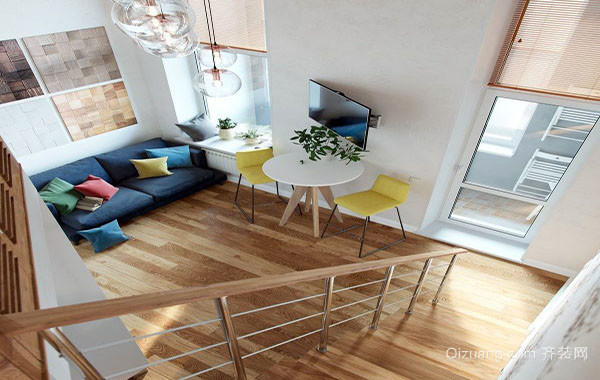 60平米现代简约风格朴素时尚创意小公寓装修效果图赏析