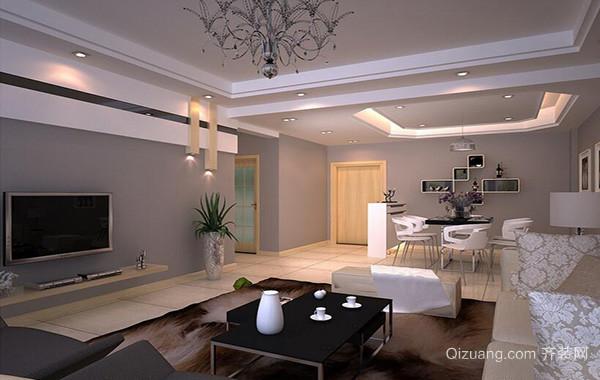 2016别墅型欧式客厅室内吊顶装修效果图鉴赏