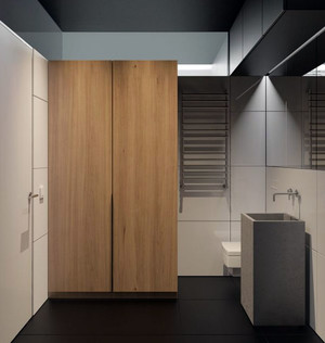 2016年新款80平米现代简约风格精致公寓装修效果图