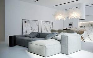 70平米现代简约灰色空间公寓装修效果图赏析