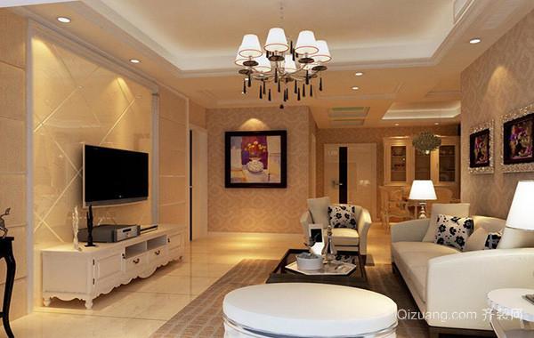 100平米别墅欧式客厅室内设计装修效果图