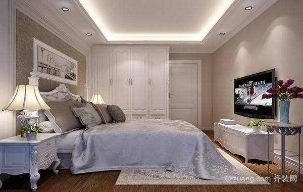 90平米欧式卧室背景墙设计装修效果图鉴赏