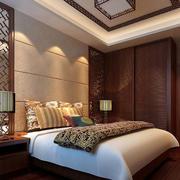 中式风格卧室效果图
