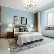 120平米现代简约风格朴素卧室装修效果图