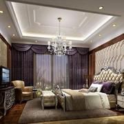 经典法式风格精致别墅典雅卧室吊顶装修效果图