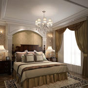 2016年简欧风格精致典雅时尚卧室背景墙装修效果图