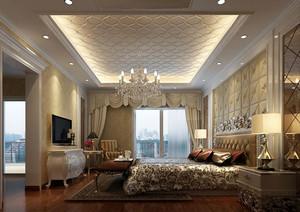 大户型简约法式风格精致卧室吊顶装修效果图赏析