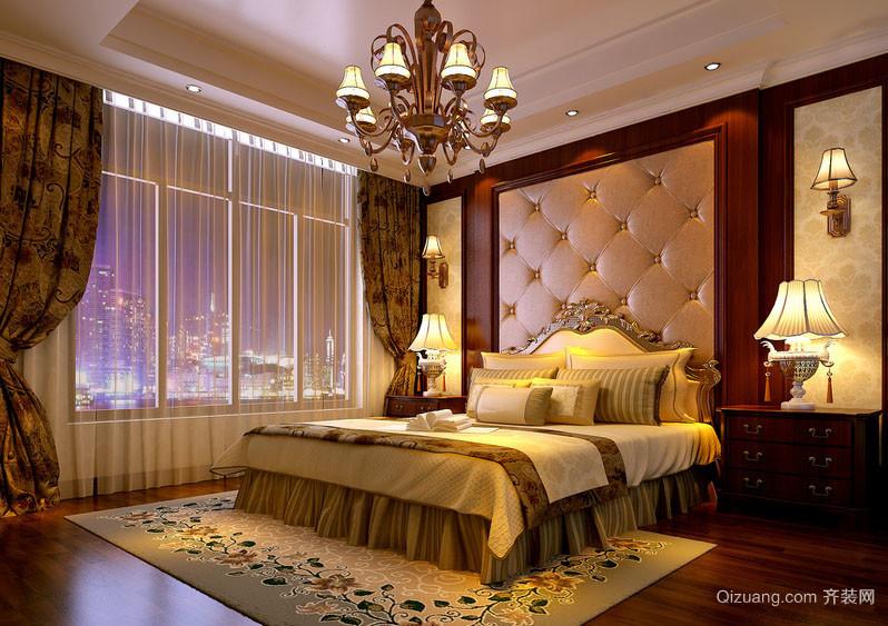 美式风格精致别墅型室内卧室装修效果图