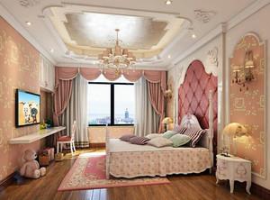 欧式风格简约温馨粉色梦幻儿童房装修效果图