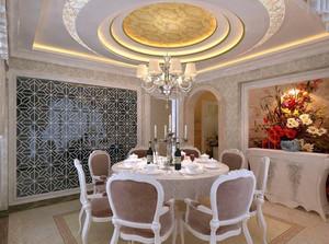 精致的大户型室内餐厅吊顶装修效果图