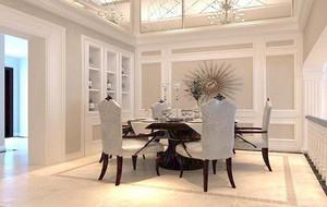 2016欧式别墅餐厅室内设计装修效果图鉴赏
