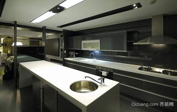 2016别墅厨房室内吊顶设计装修效果图鉴赏