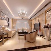 2016精致的大户型欧式客厅设计装修效果图欣赏