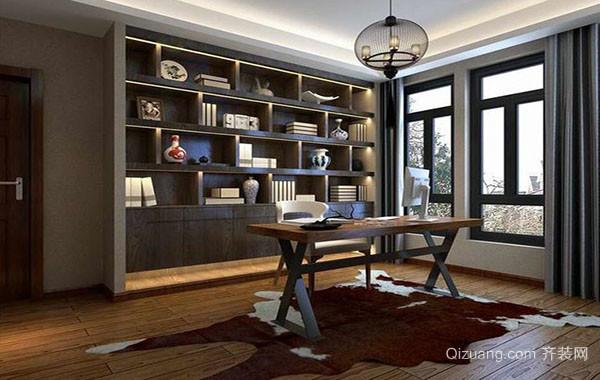 现代中式风格精致大户型书房装修效果图赏析