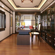 现代中式风格书房