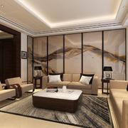 2016别墅中式客厅室内设计装修效果图欣赏