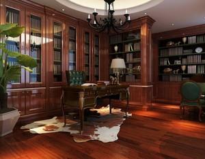 2016大户型时尚精致中式书房装修效果图欣赏