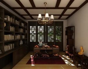 2016精致别墅中式书房吊顶装修效果图欣赏