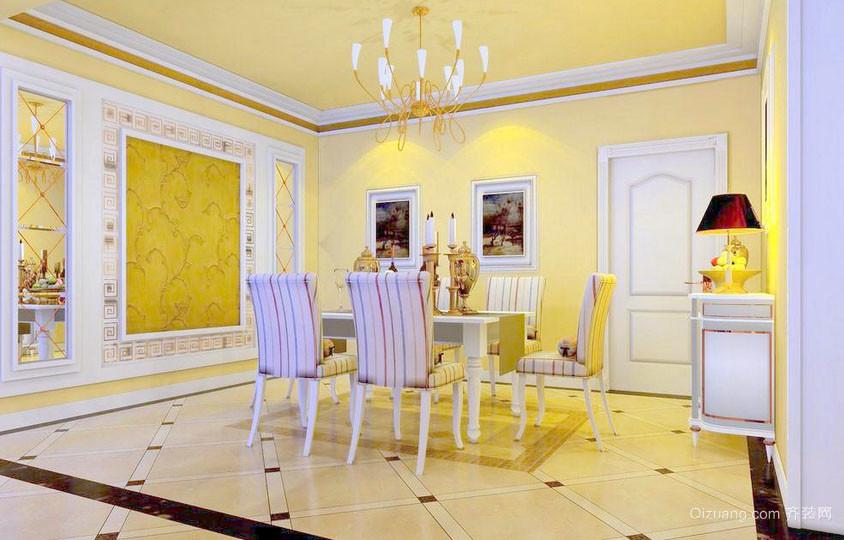 欧式风格别墅型精致餐厅装修效果图