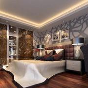 后现代风格大户型简约时尚室内卧室背景墙装修效果图