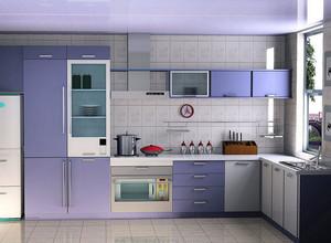 现代简约风格大户型厨房装修效果图