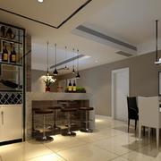 90平米欧式大户型室内酒柜设计装修效果图