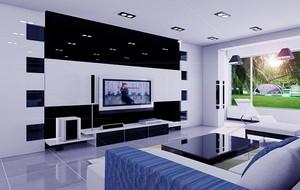 别墅型精致欧式风格客厅吊顶装修效果图