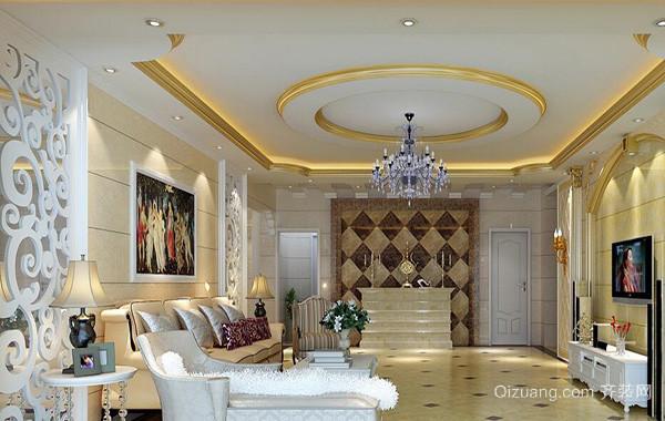 90平米别墅客厅背景墙设计装修效果图鉴赏
