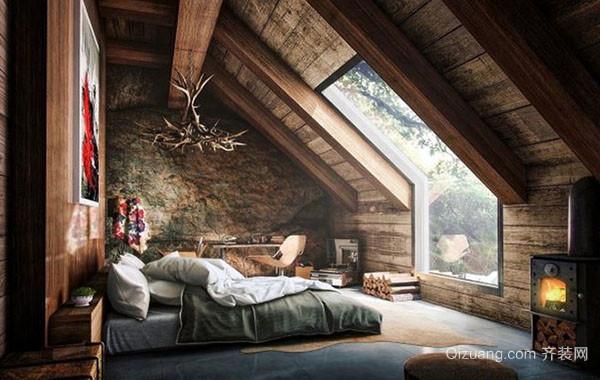 2016年新款简约时尚阁楼卧室装修效果图赏析