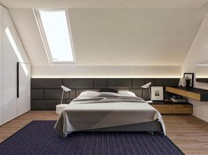 现代简约风格时尚创意阁楼卧室装修效果图大全