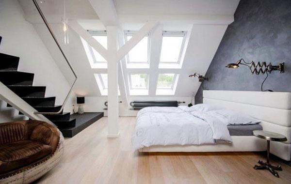 80平米现代简约风格阁楼卧室装修效果图赏析