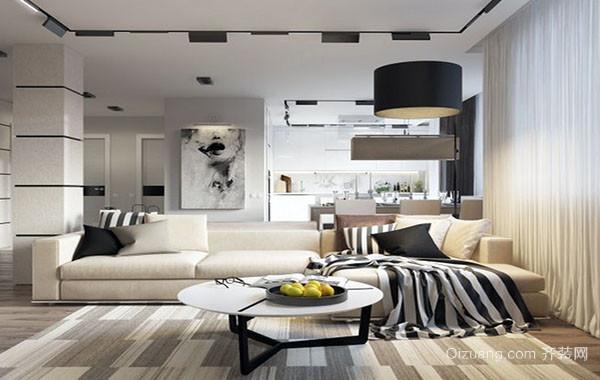 120平米现代简约灰色空间公寓装修效果图赏析
