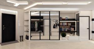 120平米时尚简约创意黑白配公寓装修效果图