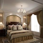 简欧风格精致典雅卧室背景墙装修