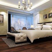 简欧风格精致卧室背景墙装修